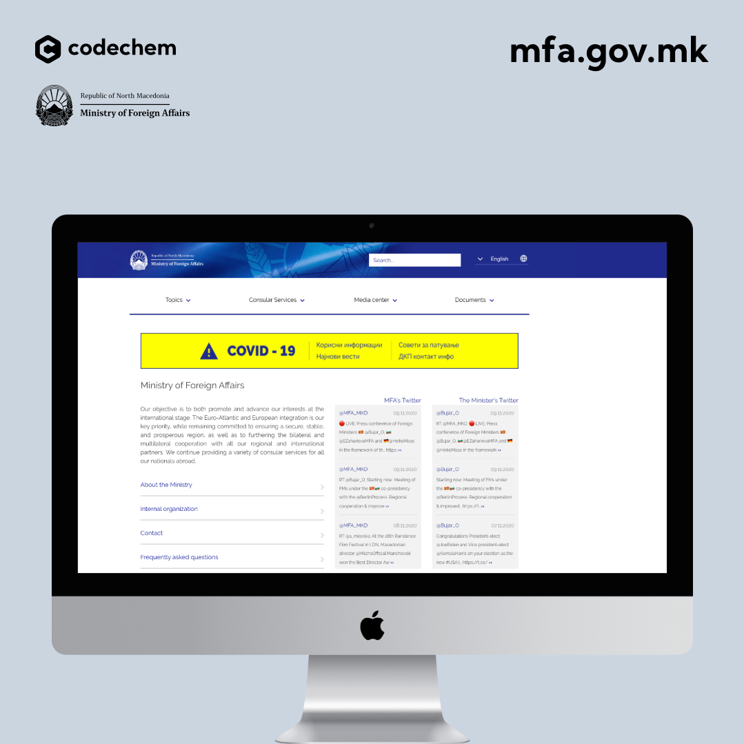 CMS for Ministry of Foreign Affairs